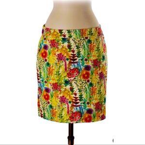 J Crew Liberty Art Fabrics Gorgeous Floral Skirt 2